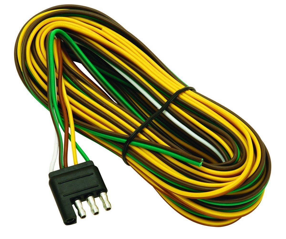 Amazon.com: Wesbar 707261 Wishbone Style Trailer Wiring Harness with on 4 wire trailer brake, wilson trailer parts diagram, 4 wire trailer hitch diagram, 4 wire trailer lighting, 3 wire circuit diagram, 4 wire electrical diagram,