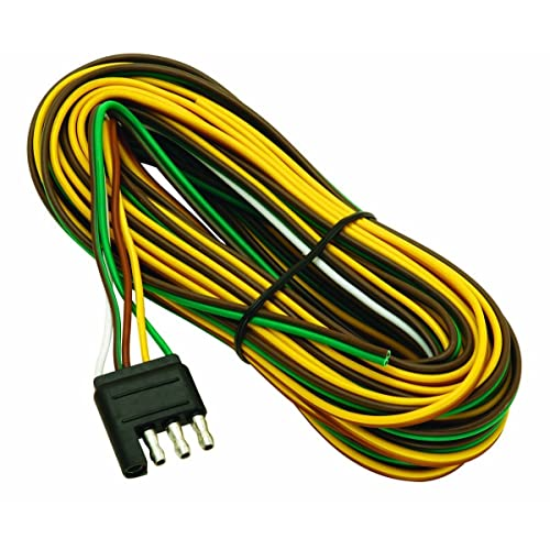 trailer wire harness amazon com wesbar 707261 wishbone style trailer wiring harness 4 flat connector