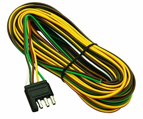 wesbar 707261 wishbone style trailer wiring harness with 4 flat connector Trailer Wiring Harness Diagram