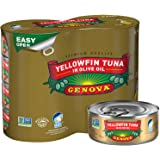 Genova Premium Yellowfin Tuna in Olive Oil, Wild Caught, Solid Light, 5 oz. Can (Pack of 8)