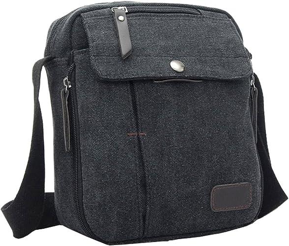 Men/'s Casual Military Canvas Travel Hiking Satchel School Shoulder Bag Messenger