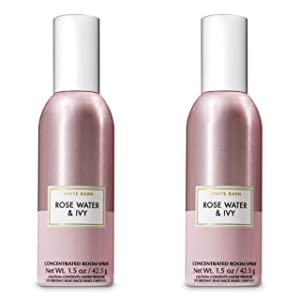 Bath and Body Works 2 Pack Rose Water and Ivy Concentrated Room Spray. 1.5 Oz.