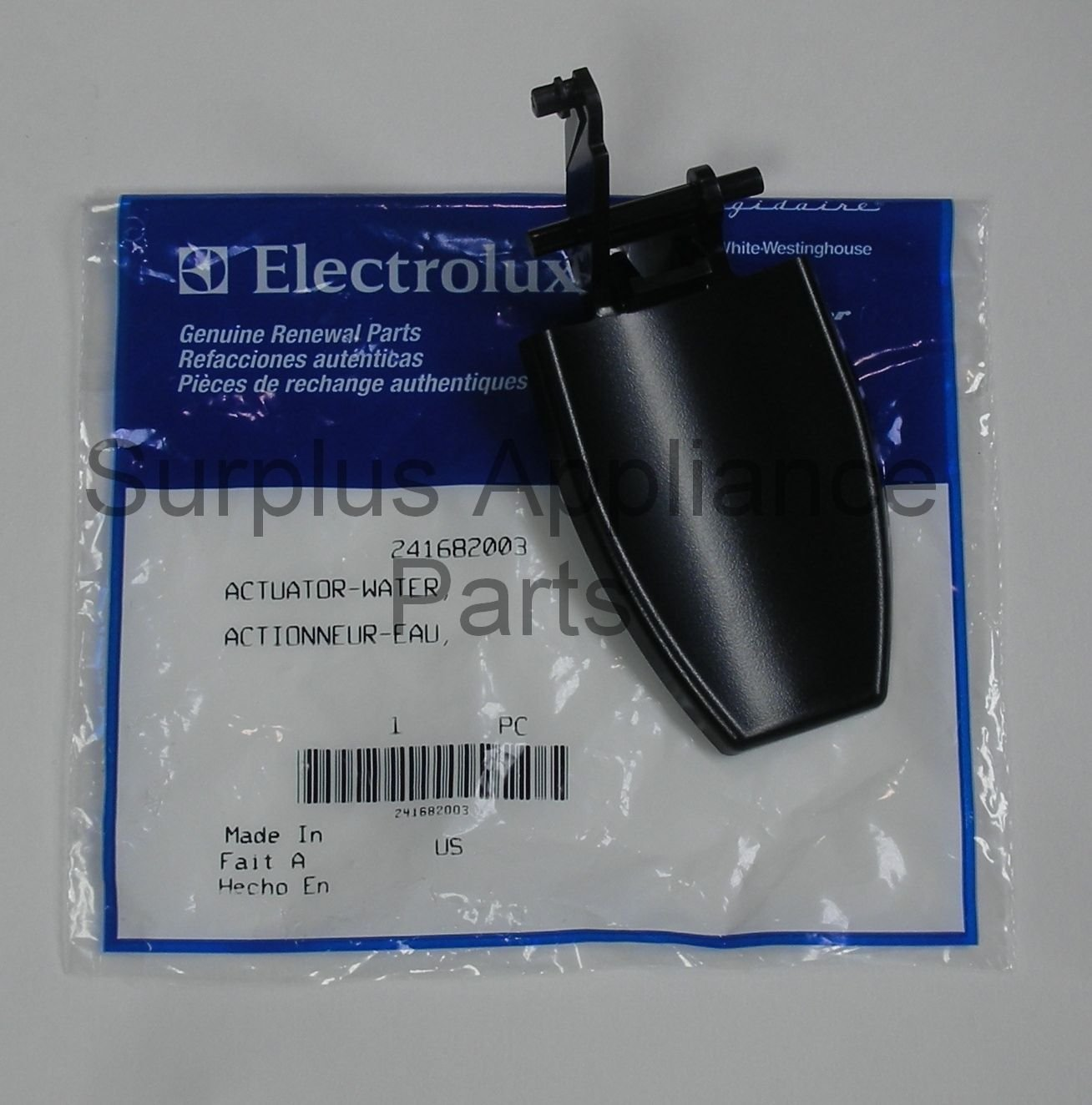 (Ship from USA) Frigidaire Refrigerator Black Water Dispenser Actuator 241682003 NEW OEM /ITEM NO#8Y-IFW81854202080