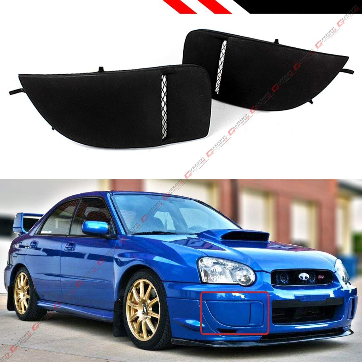 For 2004-2005 Subaru Impreza WRX STi Blue Fog Light Lamp Bumper Bezel Cover Cap