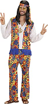 WIDMANN Widman - Disfraz de hippie años 60s adultos, talla XL ...