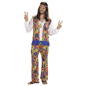 WIDMANN Widman - Disfraz de hippie años 60s adultos, talla M ...
