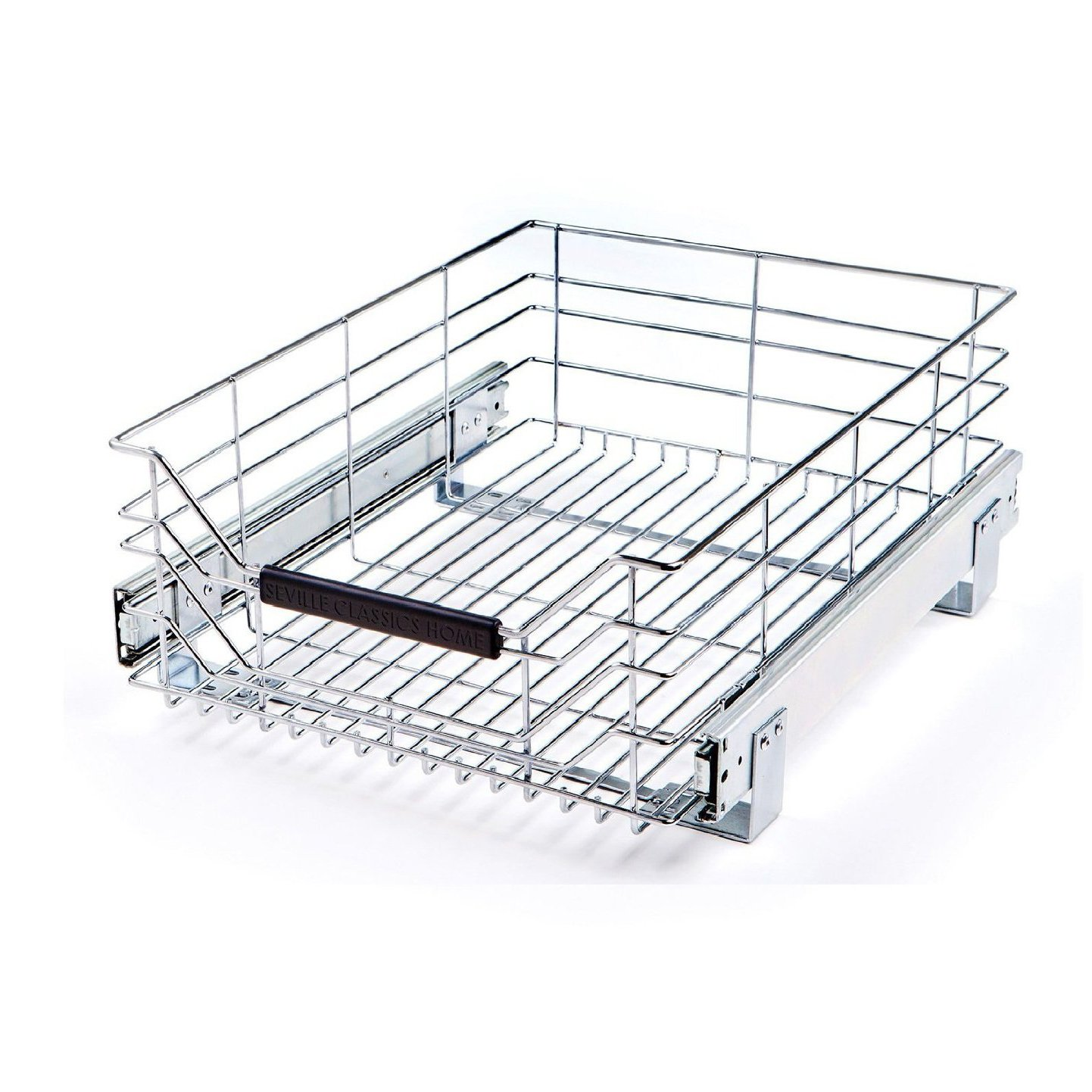 Seville Classics Pull-Out Sliding Steel Wire Cabinet Organizer Drawer, 14'' W x 17.75''D x 6.3''