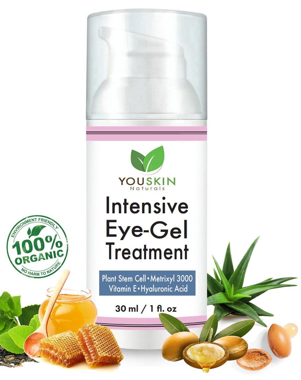 Amazon.com: Crema De Ojos Para Ojeras, Bolsas Y Arrugas Con Ácido Hialurónico, Aceite De Jojoba Y Vitaminas: Beauty
