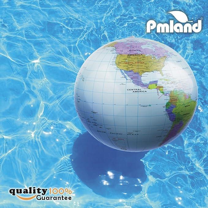 Amazon.com: Inflable mundo Globe playa educativo bolas 6 ...