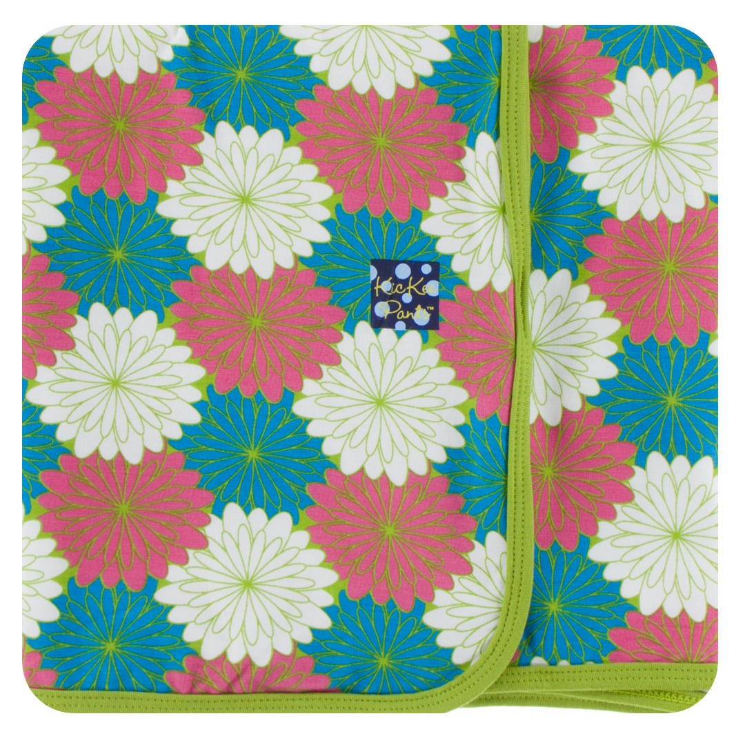 Kickee Pants Little Girls Print Swaddling Blanket - Tropical Flowers, One Size