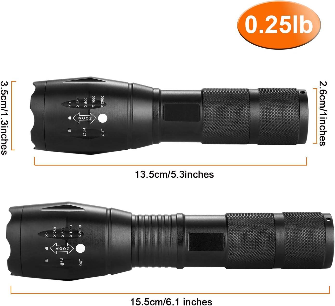Powerful Lightweight Flashlight Waterproof Torches Set Adjustable Headlamp for Outdoor Running Camping Fishing Odoland LED Head Torch Set 2 Headlamp with 2 * 1000 Lumens Flashlight