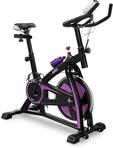 AKONZA Magnetic Exercise Bikes Stationary Home Workout Belt Drive Cycling Bicycle