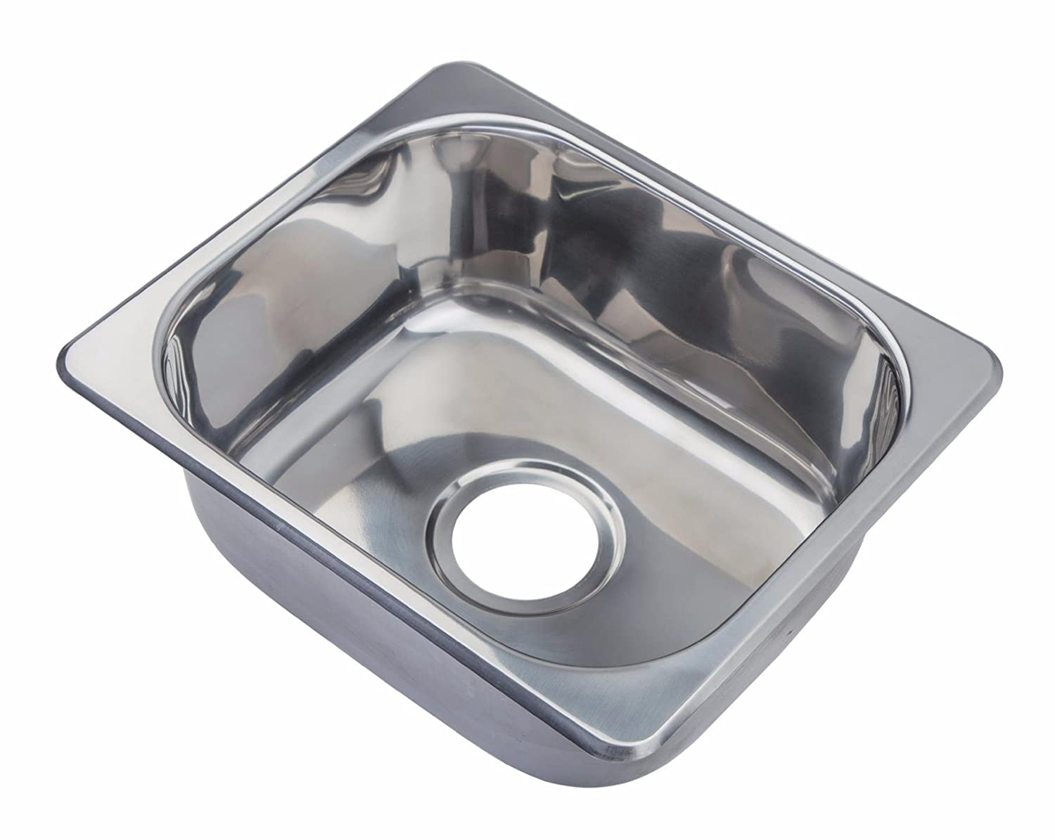 Hygenic small bowl topmount inset stainless steel kitchen sink a11 n o amazon co uk diy tools