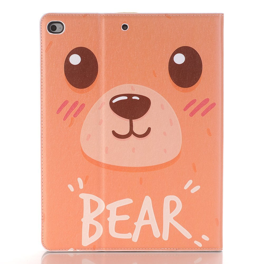 2018 new ipad 9.7 inch case cover,Boens ipad air 2 Cartoon Cute With Card Slots PU leather Cover Luxury Folio Stand Smart Screen Protective for iPad 9.7 inch 2017 new ipad/ipad air