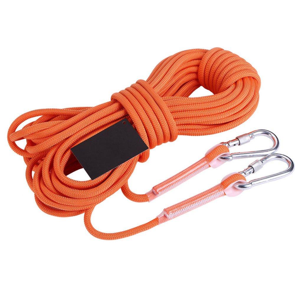 Rock climbing ropes Outdoor-Klettern Seile Feuerleiter Seil Sicherheit Lebensrettende Seilabnützung,Orange-40m8mm B07DRJ2NP1 Schlingen Saisonale Förderung