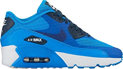 8a99340c18454 NIKE Air Max 90 Ultra 2.0 BR Photo Blue/Armory Navy-White (Big Kid)