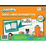 Channie's Quick & Neat Alphabet Writing Pad, Practice Handwriting & Printing Workbook, 80 Pages Front & Back, 40 Sheets…
