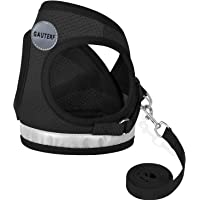 GAUTERF Kitten and Puppy Universal Harness with Leash Set, Escape Proof Cat Harnesses-Adjustable Reflective Soft Mesh Corduroy Small Dog Harnesses-Best Pet Supplies