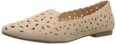 UNIONBAY Women's Welcome Pointed Toe Flat, Blush, ...