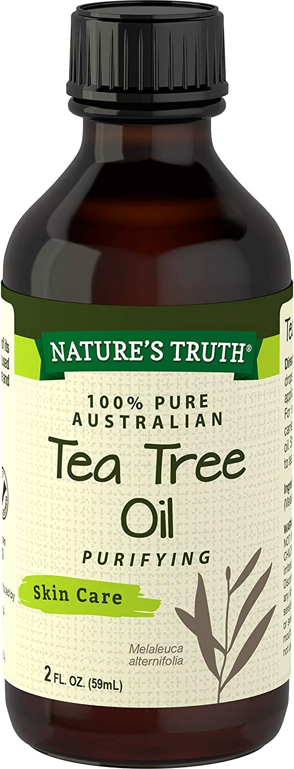 Nature's Truth Tea Tree Oil | 2 oz | 100% Pure Australian Tea Tree Oil | for Hair, Face, Body and Aromatherapy | Non-GMO, Gluten Free