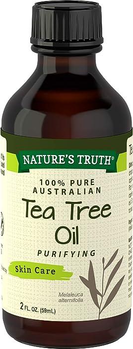 Nature's Truth Tea Tree Oil | 2 oz | 100% Pure Australian Tea Tree Oil | for Hair, Face, Body and Aromatherapy | Non-GMO, Gluten Free