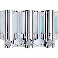 Aviva - Dispensador triple de ducha, color cromo
