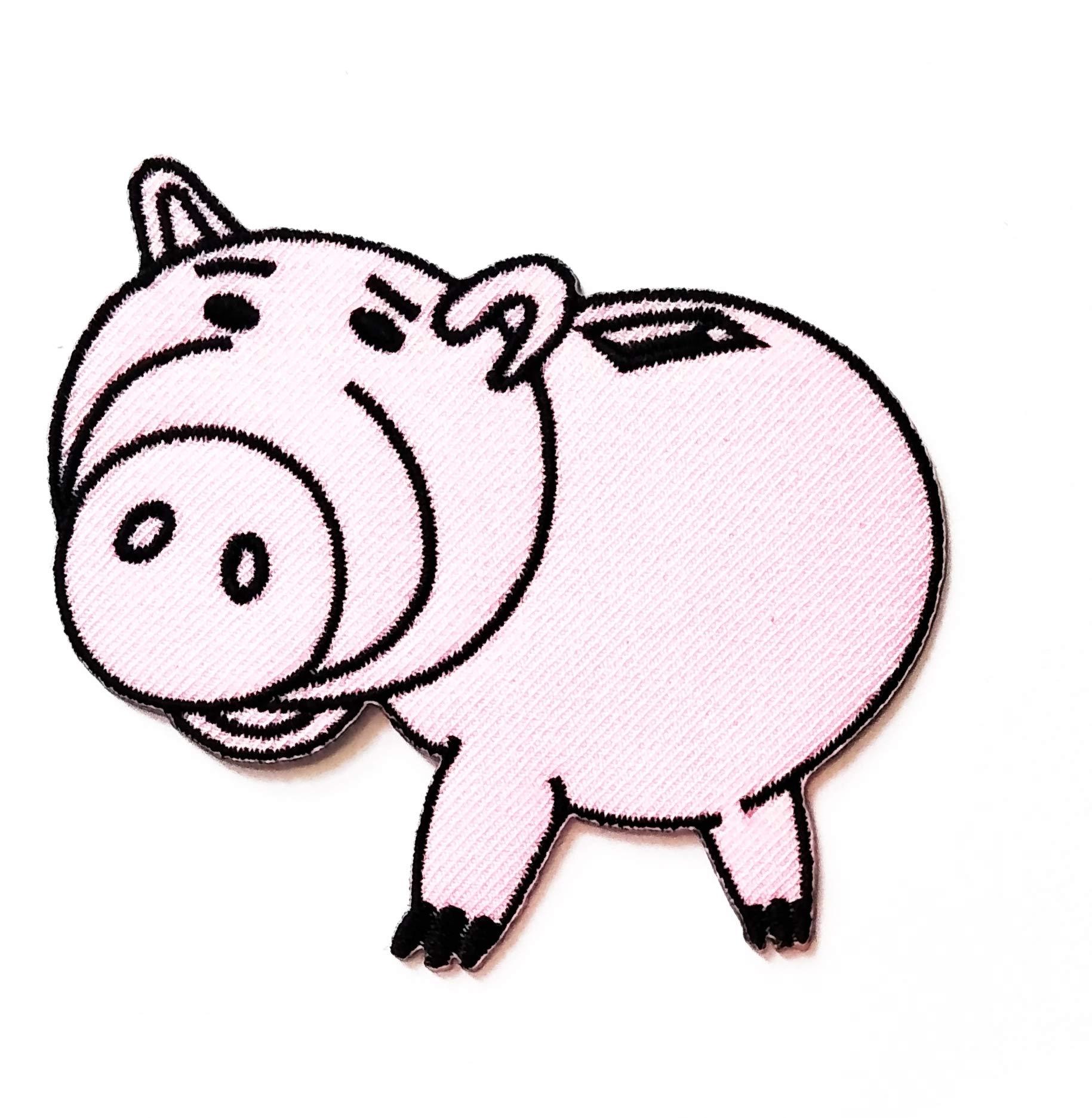 Nipitshop Patches Cute Pretty Pig Stand Farm Animal