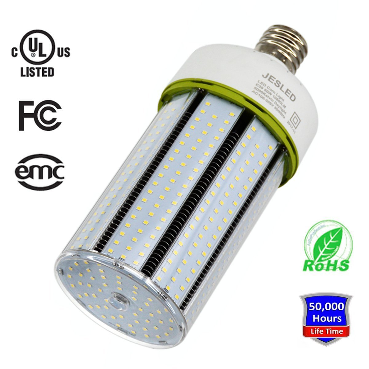 JESLED 150W LED Corn Light Bulb, Large Mogul E39 Base, 20250 Lumens, 5000K Daylight, Replacement for 1000W Equivalent Metal Halide Bulb, HID, CFL, HPS by JESLED (Image #1)