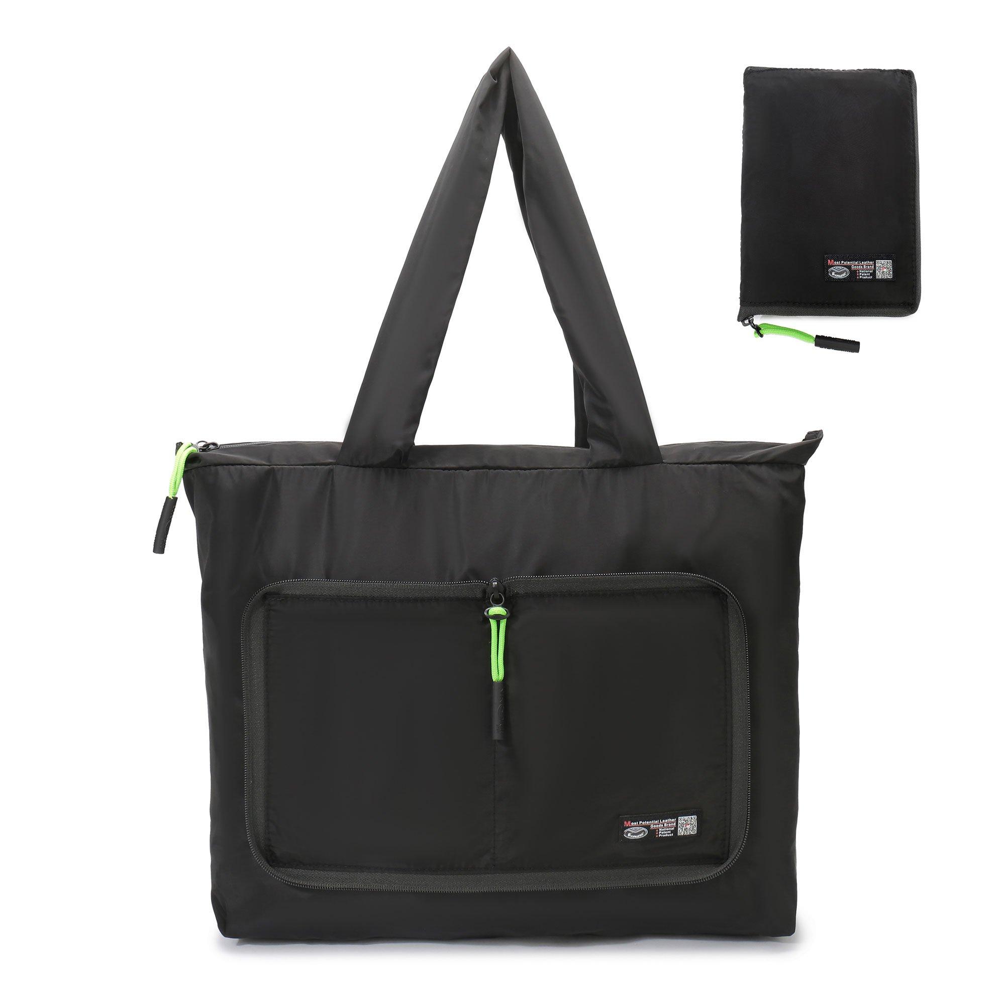 Foldable Gym Tote Bag,Lightweight Yoga Sport Shopping Beach Bag Utility Large Handbags for Travel