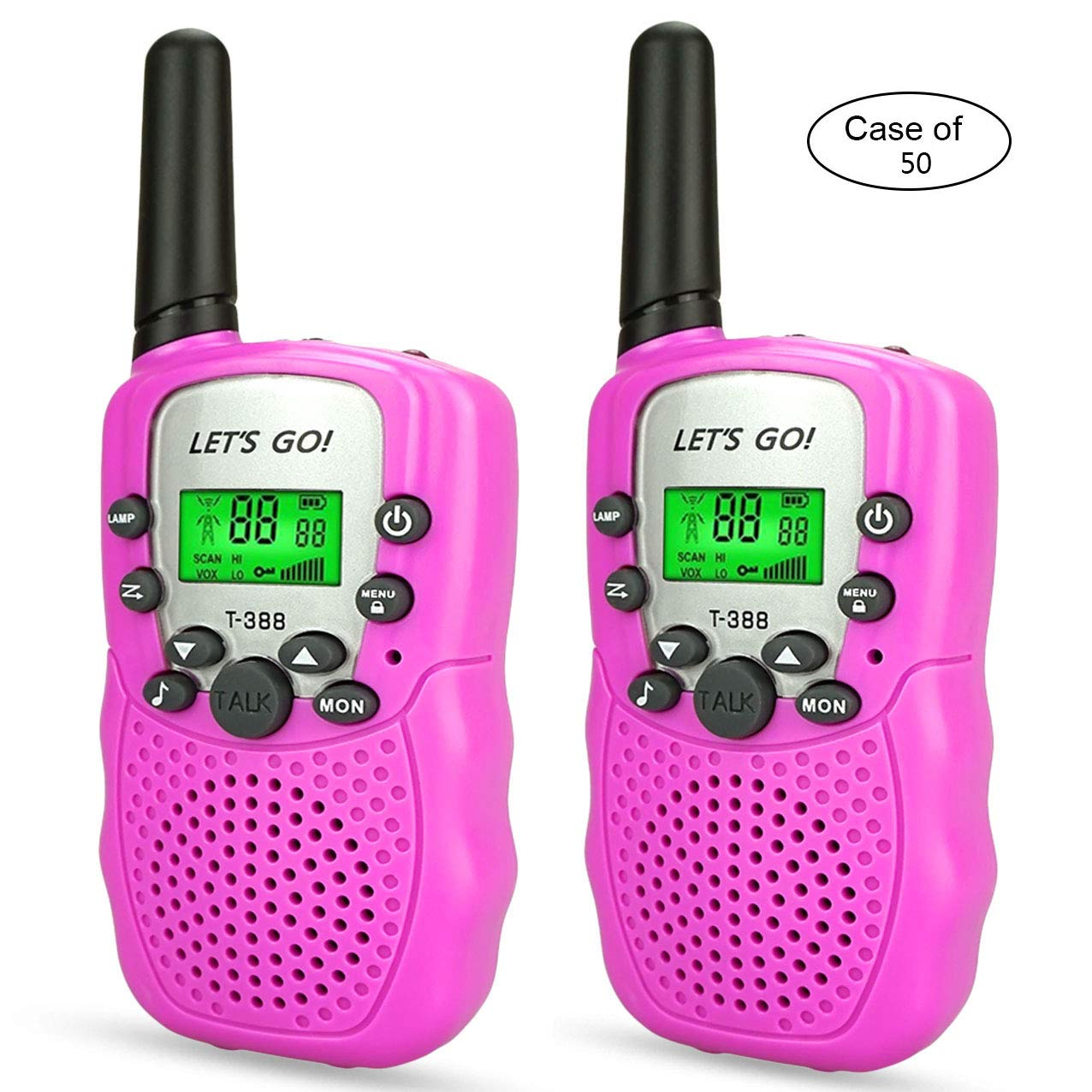 Case of 50, Long Range Walkie Talkies Two Way Radios for Kids