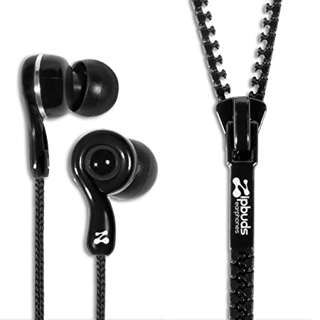 Review Zipbuds JUICED 2.0 Never Tangle Zipper Earbuds Featuring ComfortFit2 Technology, Black