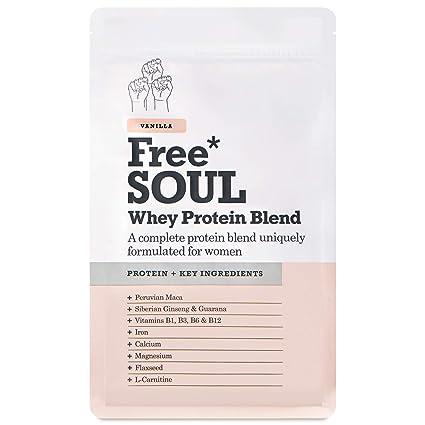 Free Soul Proteína Whey en Polvo Mujer/Whey Protein | 80% Con Ingredientes Naturales