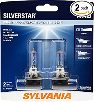 2 Bulbs SYLVANIA H1 SilverStar High Performance Halogen Headlight Bulb