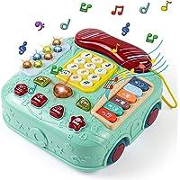 Akokie Juguetes Bebe Juegos de Mesa para Niños Juguetes Teléfono Juguetes Musicales Bebés Piano Infantil Instrumentos…
