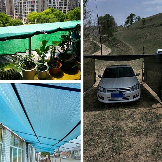 LIXIONG Sombra de red Protección solar Aislamiento térmico Respirable patio flores cobertizo de estacionamiento, verde, 22 tamaños (Tamaño : 2 x 6m): ...