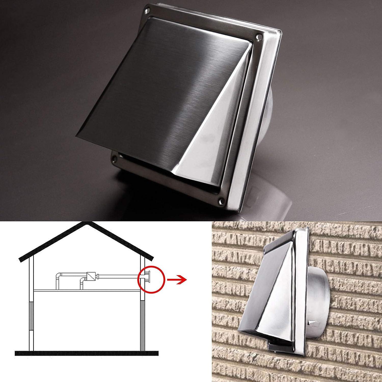 Acier inoxydable d/échappement murale en m/étal da/ération pour prise de courant carr/é hotte 150/mm