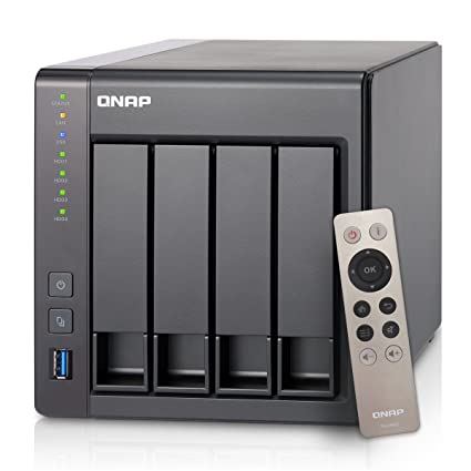 QNAP TS-451+-2G-US 4-Bay Next Gen Personal Cloud NAS, Intel 2 0GHz  Quad-Core CPU with Media Transcoding