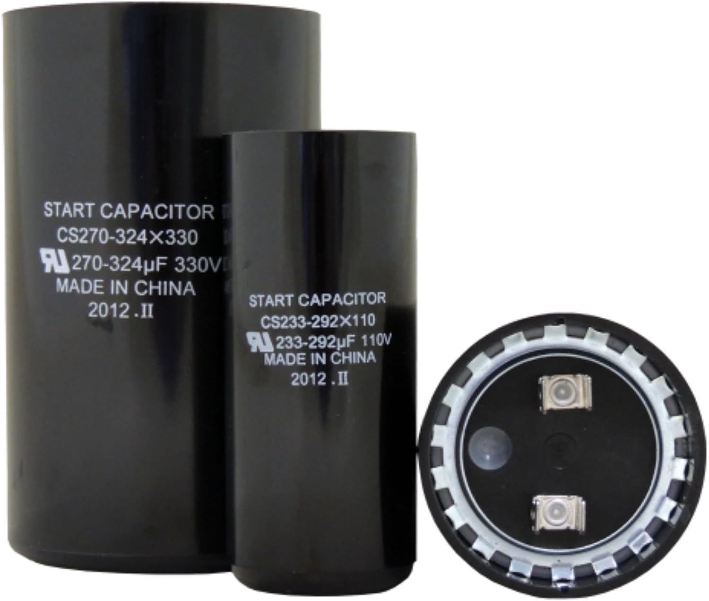 TEMCo 135-162 MFD uF Electric Motor Start Capacitor 330V HVAC 330 vac v volt