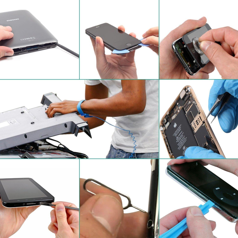 Oria Kits Tournevis de Pr/écision Magn/étique Montres iPad Bleu 76 en 1 Tournevis Outils de R/éparation avec Sac Portatif pour iPhone 7 Lunettes et autres Appareils /Électroniques Smartphones