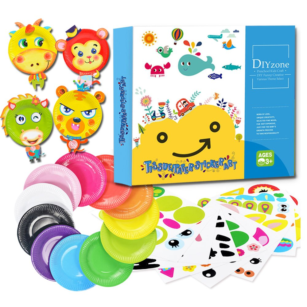 Hyriss Toy Diyzone Colorful Paper Plate Craft Art Kit