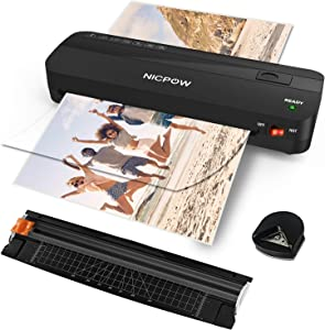 Laminator Machine, NICPOW A4 Laminating Machine,4 in 1 Thermal Laminator, 9 inches,30 Laminating Pouches, Paper Trimmer, Corner Rounder, Personal Laminator for Home, School, Office