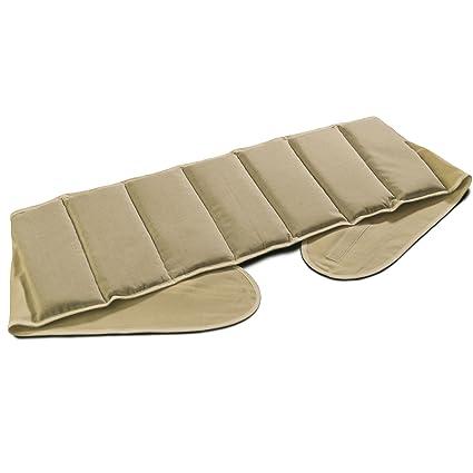 Cojín-cintura de semillas de colza con 7 compartimientos y cierre velcro | largo aprox