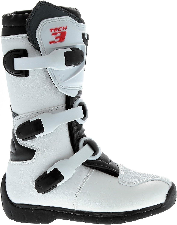 White Yellow Fluorescent Alpinestars Tech 3S Youth Boots-Black