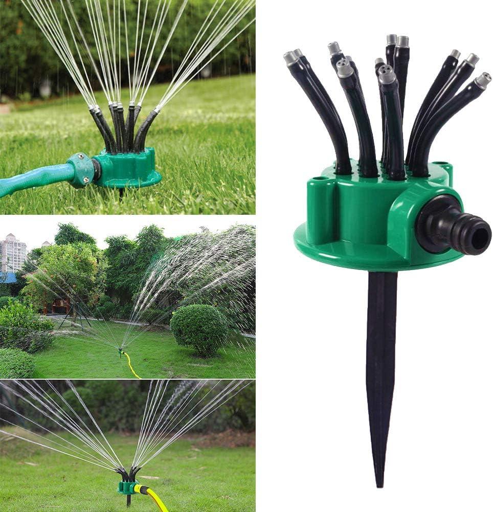 AI EN JIU Lawn Sprinkler Garden Sprinkler Small Yard Lawn Sprinkler 360 Degree Adjustable Flexible Lawn Irrigation Watering System for Lawn Garden Flower Grass Plant,Small Area Water Sprinkler