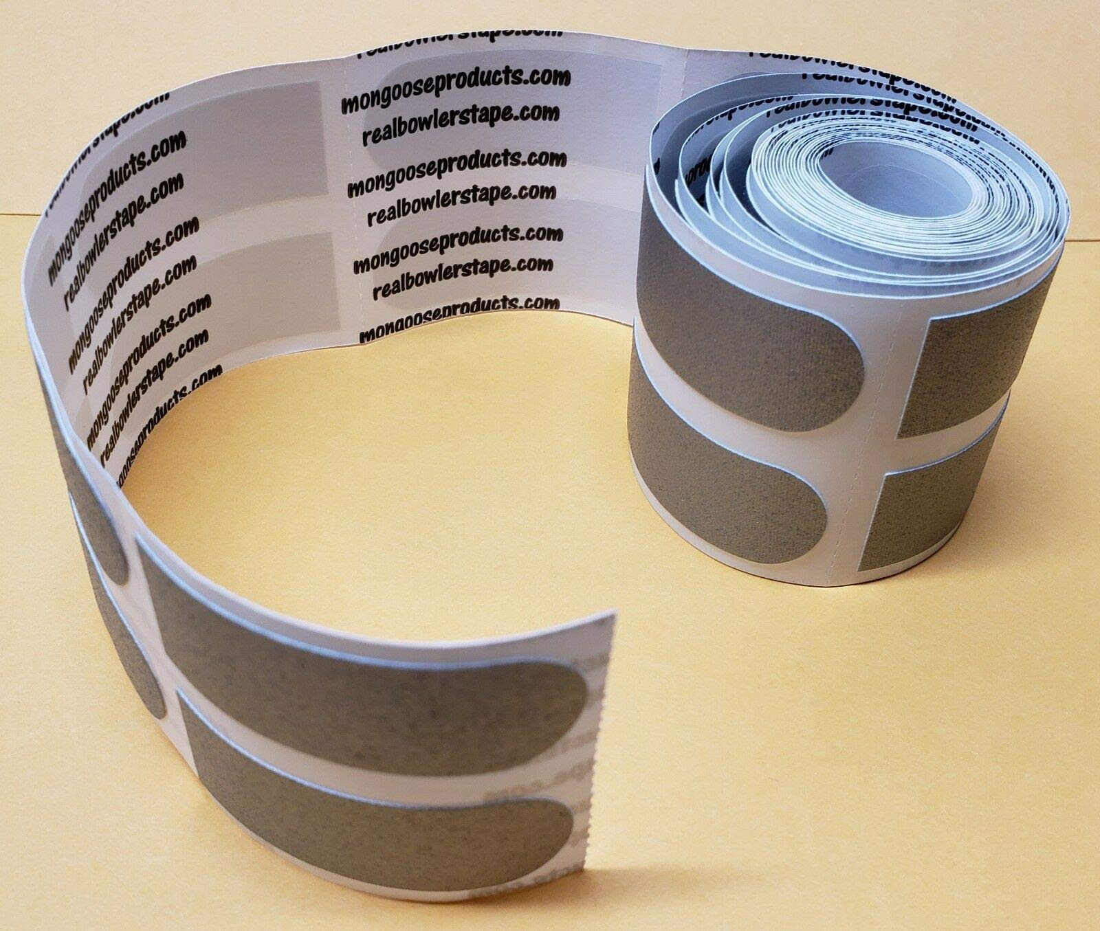 Real Bowler's Tape, Roll of 100, 3/4'' Silver/Texture
