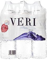 Veri Agua Mineral Natural de Mineralización Débil - Pack de 6 x 1,5 l - Total: 9000 ml