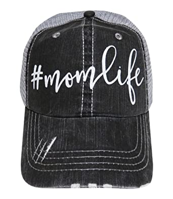 0cfbf5d27dc Image Unavailable. Image not available for. Color  Spirit Caps White  Glitter  Momlife Distressed ...