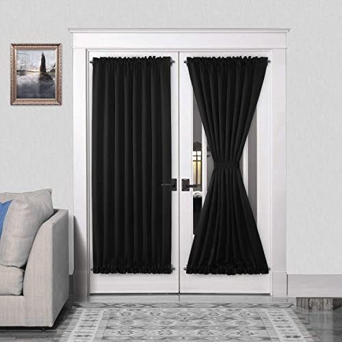 DWCN French Door Curtains Rod Pocket Thermal Blackout Curtain