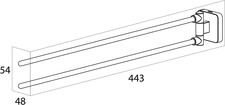 Edelstahl Chrom 4,8 x 5,4 x 44,3 cm Tiger Onu Handtuchhalter