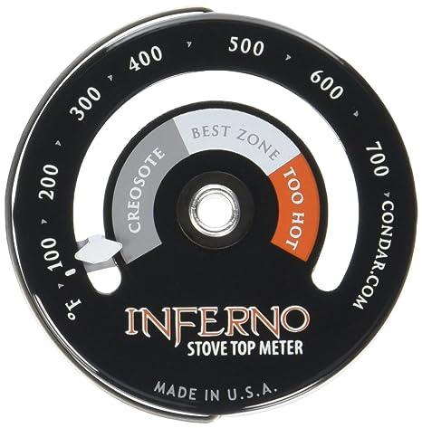 Inferno Stove Top Estufa de Meter (3 – 30) Termómetro de medidas temperaturas en